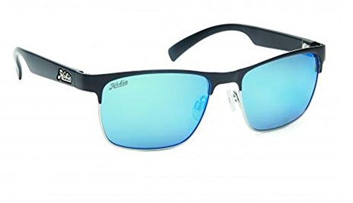 Hobie La Jolla Rimless Sunglasses,Satin Deathly , Shiny Silver , Satin Black Temples,56 mm