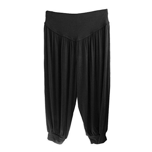 Gazechimp Pantalones De Yoga Para Mujer Harén Cosechado Holgados Pantalones De Modal negro