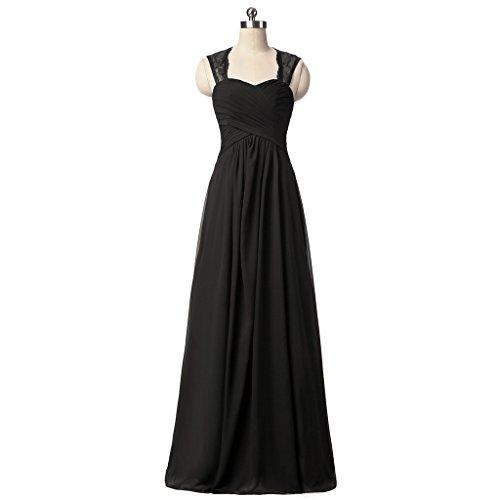 Drasawee Impero Stile Black Donna Vestito OOZBqT