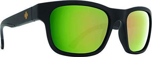 Mens Frame Jack - SPY Optic Hunt Square Sunglasses (Matte Black/Cork E-Jack, Happy Rose Polar w/Green Gold Spectra)