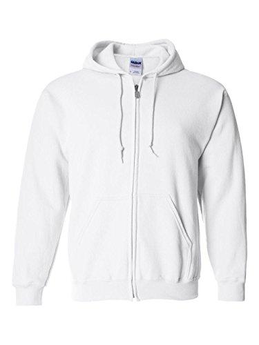 - Gildan Printing Heavy Blend Full-Zip Hoodie, WHITE, Medium