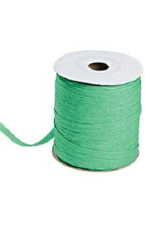 Kelly Green Matte Raffia Ribbon Gift Wrap Wedding 1/2'' Wide 500 Yards Bow by retail-warehouse