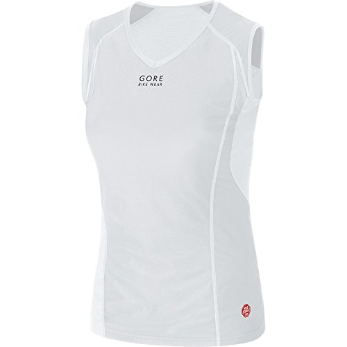 Gore Bike WEAR Women's Base Layer Windstopper Lady Singlet, XXL, Light Grey/White ()