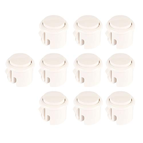 EG STARTS OEM 10x Arcade 30mm Push Buttons Perfect Replace for Sanwa OBSF-30 OBSC-30 OBSN-30 Push Button Arcade Arcade Fighting Game DIY Kits Parts Mame Jamma Games - White
