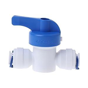 1/4 di pollice Inline nuovo rubinetto a sfera Quick Connect spegnimento per RO acqua osmosi inversa. 31SHYXH%2BZfL. SS300
