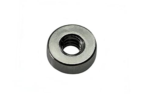 Steel QTY-10 10-24 THD x .030 thk Unicorp EWN-024-0 Round Projection Weld Nut Self-Locating
