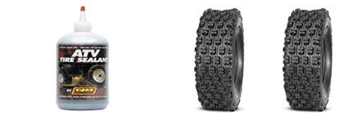 (Set of 2 QUADBOSS QBT739 Rear Tires 22x11-9 4-ply with Sealant)