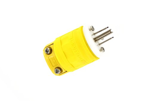 Leviton 1447-P 15 Amp, 125 Volt, 2-Pole, 3-Wire, Dustguard, Straight Blade, ()