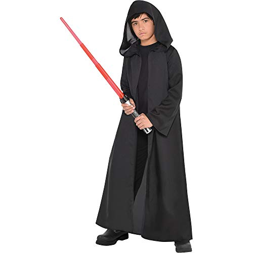 Costumes USA Star Wars Black Sith Robe for Children, Standard Size, in Black, With Long Sleeves and an Oversized -