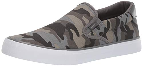 Lugz Men's Clipper Sneaker, Grey Gargoyle Camo/White, 7.5 D -