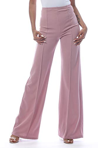 Women's High Waist Bell Bottom Flare Pants, 1X-Large, Lilac