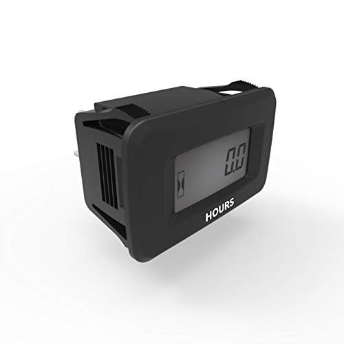 Runleader Digital Hour Meter for Lawn Mower Generator Motocycle Farm  Tractor Marine Compressor ATV outboards Chainsaw and other AC/DC Power  Devices