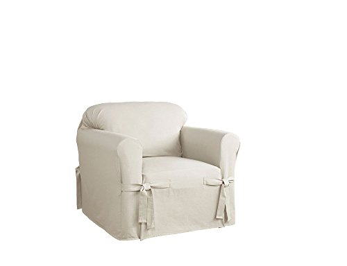 Serta Relaxed Fit Duck Furniture Slipcover for Chair, Natural