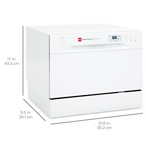 Best Choice Products Small Spaces Kitchen Countertop Portable Dishwasher w/ 6 Wash Cycles and Preset Start Function by Best Choice Products (Image #5)
