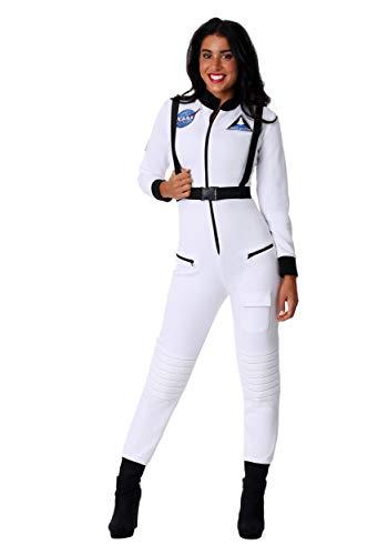 Women's White Astronaut Costume Medium ()