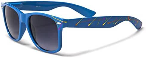 Retro 80's Fashion Sunglasses - Color Splash Ornament