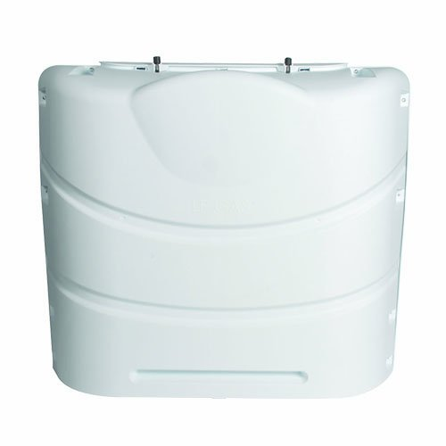 Camco 40559 Heavy-Duty 20lb or 30lb Dual Propane Tank Cover (Polar White)