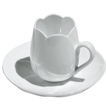 Alessi Tulip Set of 2 Espresso Cups and Saucers
