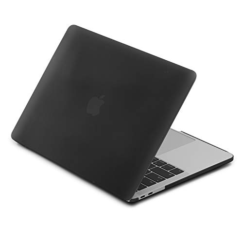 LENTION Plastic Hard Case Compatible for MacBook Pro (13-inch, 2016 2017 2018, 2/4 Thunderbolt 3 Ports) - with or w/Out Touch Bar, A1706 / A1708 / A1989, Matte Finish with Rubber Feet (Black)