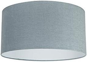 QAZQA Moderno Algodón y poliéster Pantalla tela azul claro 50/50/25, Redonda/Cilíndrica Pantalla lámpara colgante,Pantalla lámpara de pie: Amazon.es: Iluminación