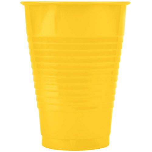 Creative Converting 28102181 16 oz. School Bus Yellow Plastic Cup - 20/Pack
