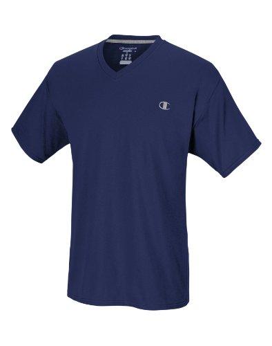 Champion Men's Jersey V-neck T-Shirt, Navy, X-Large