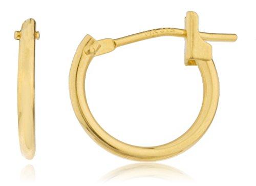 (14k Yellow Gold Basic 12mm Click Hoop Earrings (GO-932))