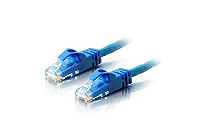 Cat6 100FT Networking RJ45 Ethernet Patch Cable Xbox \ PC \ Modem \ PS4 \ Router - (100 Feet) Blue