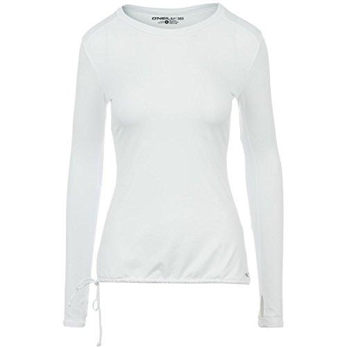O'Neill Women's Hybrid Supreme Light Layer Rash Guard, White, Large