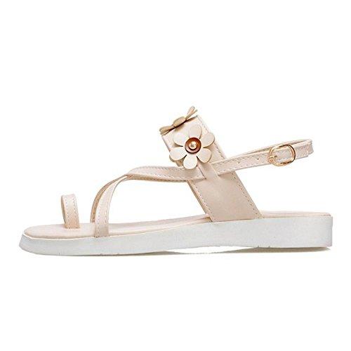 Fashion Slingback Shoes Sandals TAOFFEN Beige Women 87qwpp