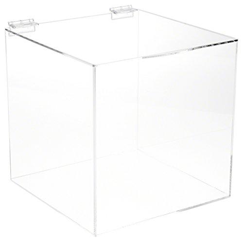 "Plymor Brand Acrylic Display Box Case With Hinged Lid, 6"" x"