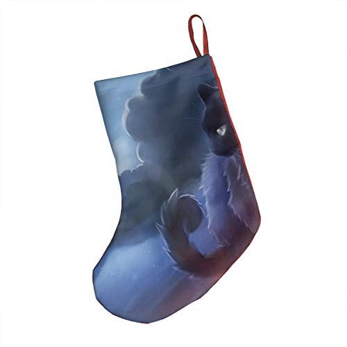 Warrior Cat Christmas Stockings 18 Inches Large Size Holiday Season Decor