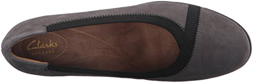 Clarks Women's Daelyn Hill Wedge Pump, Black Suede, 3.5 UK Grey Suede