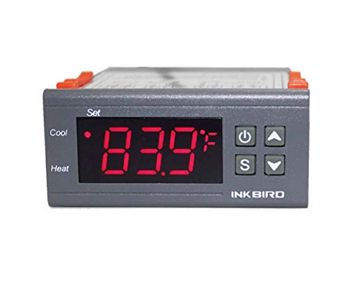 Inkbird Dual Stage DV 12V Digital Temperature Controller Fahrenheit Thermostat Heating and Cooling for Homebrewing Brew…