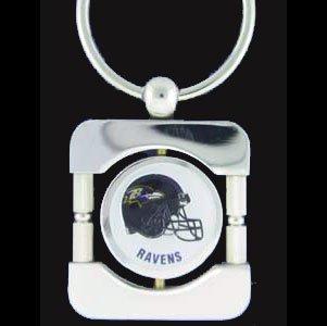 Baltimore Ravens Executive Silver Key Chain - NFL Football Fan Shop Sports Team Merchandise ()