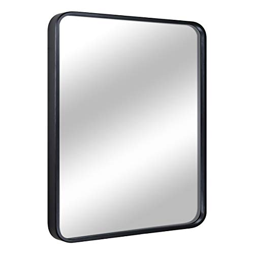 EPRICA Bathroom Mirror for Wall, Large Wall Mirror, Black Rectangle Mirror, 1