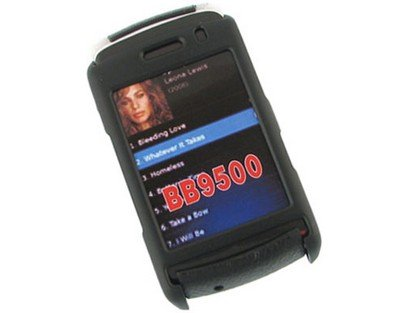 Snap On Rubberized Plastic Phone Protector Black Case For BlackBerry Storm 9530 9500 -