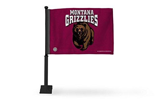 Rico Industries NCAA - Bandera de Coche con Barra Negra, Productos autorizados, Logo Color, 8 x 1