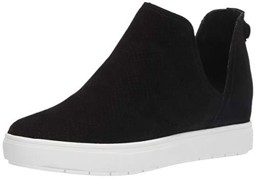 STEVEN by Steve Madden Women's CANARES-P Sneaker Black Suede 6.5 M US
