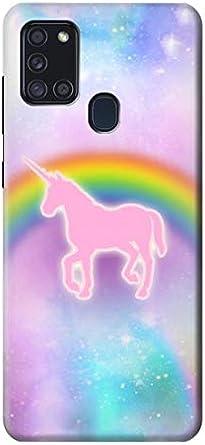 Coque pour Samsung Galaxy A21s Motif licorne arc-en-ciel - R3070 ...