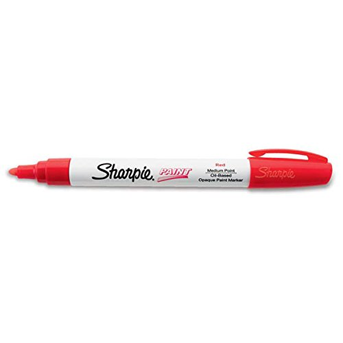 Sharpie Paint Marking Pens, Medium, Red (110 Pack)