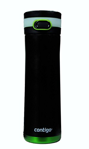 Contigo Glacier Stainless Water Bottle 20oz, Matte Black with Cirton Accents - Glacier Bottle