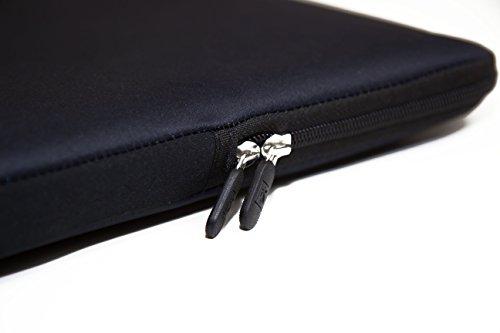 Luxburg® Design Laptoptasche Notebooktasche Sleeve für 14,2 Zoll, Motiv: bunte Fische