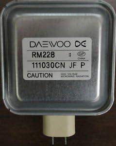 Amazon.com: Daewoo rm228 Horno de microondas magnetrón ...
