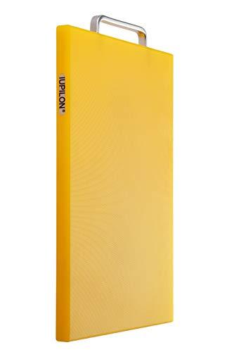 Iupilon Nonslip Thick Plastic Cutting Board with Handles - Antibacterial 7.87 x 11.81 Chopping Block (Yellow)