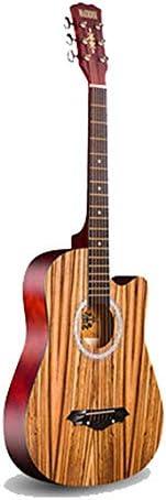 アコースティックギター アコースティックギター初心者エントリ練習ピアノの指アコースティックギター初心者 小学生 大人用 ギター初級 (色 : C, Size : 38 inches)