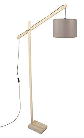 Tosel 95368 lámpara de pie de e-Book 1 luz, madera, E27, 40 ...