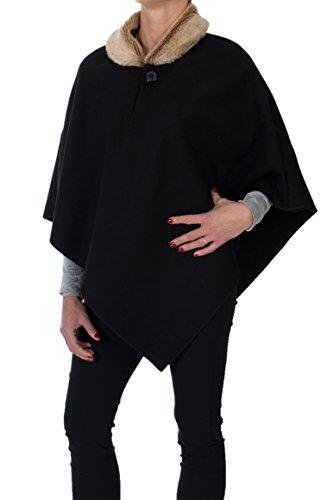 para Xxl cuello negro talla de Poncho S piel 4tuality qA0R5dx