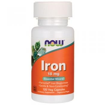 NowFoods Iron 18 mg Essential Mineral 120 Veg Capsules Review