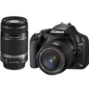 Canon EOS Rebel T1i (500D) Digital SLR Kit w/EF-S 18-55mm f/3.5-5.6 IS Lens & Canon EF-S 55-250mm f/4-5.6 IS Autofocus Lens